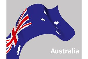 Background with Australia wavy flag
