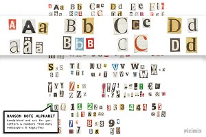 Ransom Note Alphabet