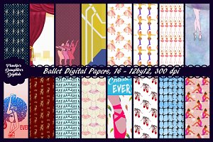 Ballet Digital Paper Pack