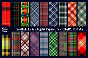 Scottish Tartan Digital (18) Papers
