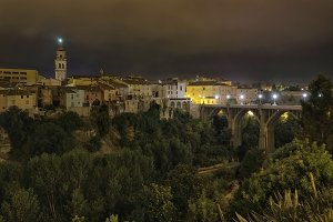 Night view from Ontinyent city