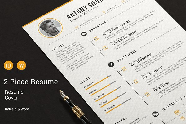 InDesign resume