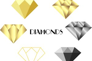 Gold and Silver Diamonds, Geometric
