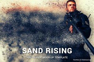 Sand Rising Photoshop Mock-ups