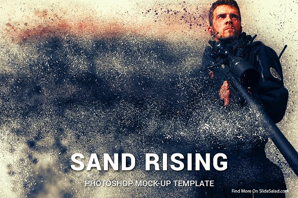 Sand Rising Photoshop Mock--Graphicriver中文最全的素材分享平台