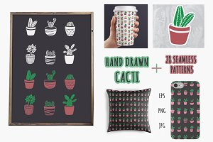 Cactus Illustrations and Patterns