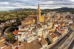 Albaida City, Spain. Aerial picture.