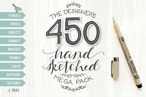 Designer's Hand Sketched Megapack
