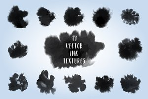 Vector Ink Textures Set
