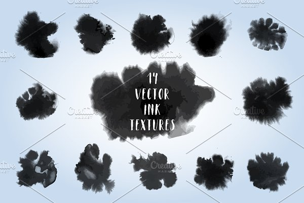 Vector Ink Textures Set