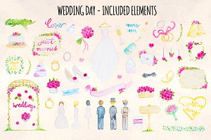 Floral Wedding 59 Watercolor Element