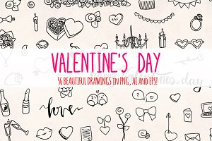 Valentine's Day 56 Sketch Graphics