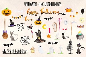 Happy Halloween 42 Cute Elements