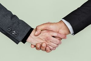 Business deal hand shake
