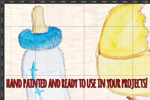 Hello Baby 76 New Baby Elements in Illustrations - product preview 2