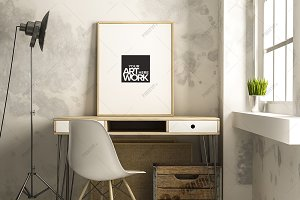 Frame Poster Mockup Industrial Style