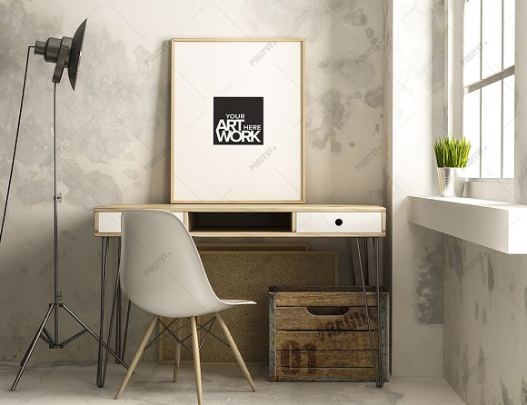 Download Frame Poster Mockup Industrial Style