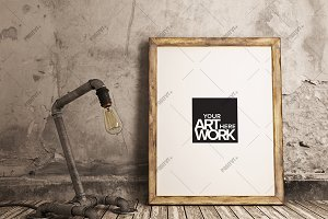 Poster Mockup Industrial Pipe