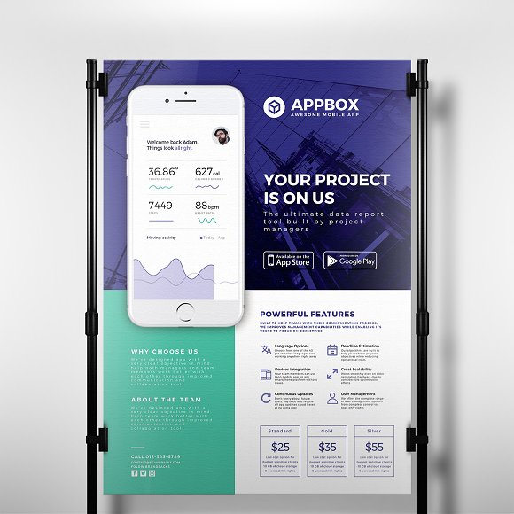 Mobile App Poster Template