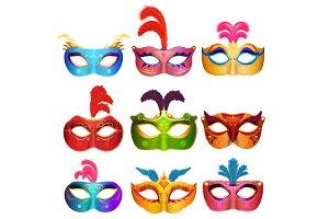 Venetian handmade carnival masks