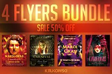Mardi Gras Cranival Flyers Bundle