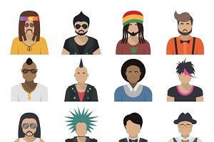 Avatar Characters Icon Set
