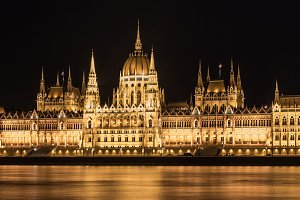 Budapest Parliament, night view