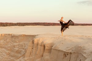 Dancer in the sand.