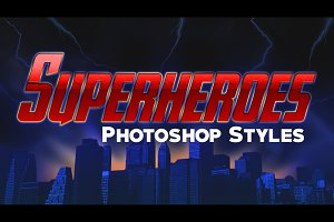 10 Photoshop Styles: Superheroes v1