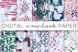 Abstract Winter Digital Papers