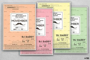 Movember Flyer Template V2
