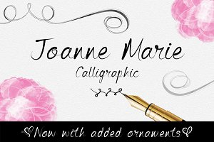 Joanne Marie Calligraphic Font