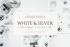 Silver Christmas Styled Stock Photo