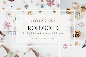 Rosegold Christmas Stock Photos