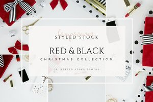 Red Glam Christmas Stock Bundle