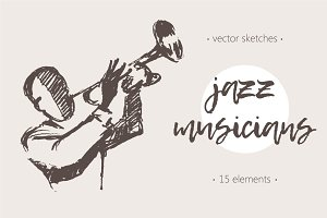 Sketches of jazz musicians
