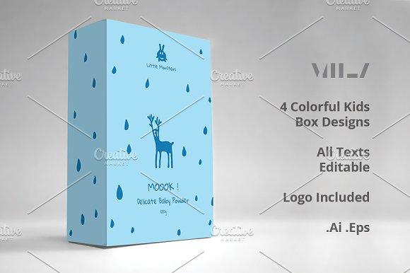 kids box design templates templates creative market