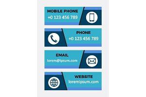 Contacts banners. Set of design elements