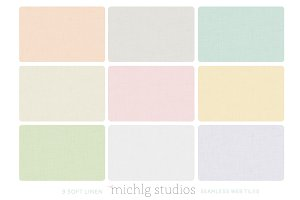 9 Soft Linen seamless web tiles