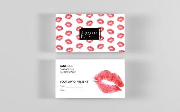 lipstick business card template business card templates creative