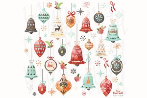 Christmas Watercolor Ornaments