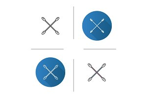 Crossed cotton buds icon