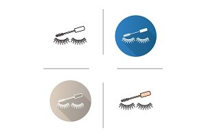Eye mascara icon