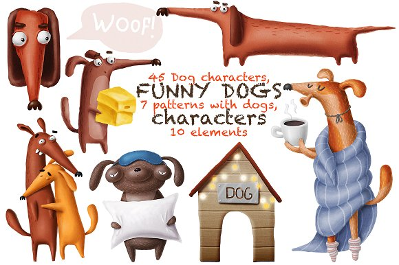 Funny Dogs-Graphicriver中文最全的素材分享平台