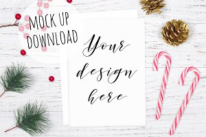 Christmas Card Mockup Photograph