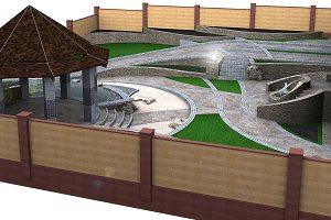 Garden pond and decking ideas
