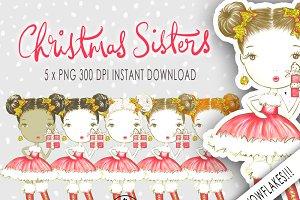 Christmas Girl Clipart Glitter