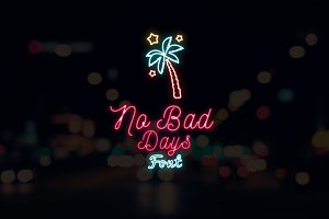 2 Neon Fonts + Neon Signs