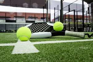 Balls and racket