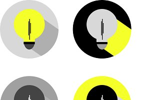 Electric lamps. Vector drawings.